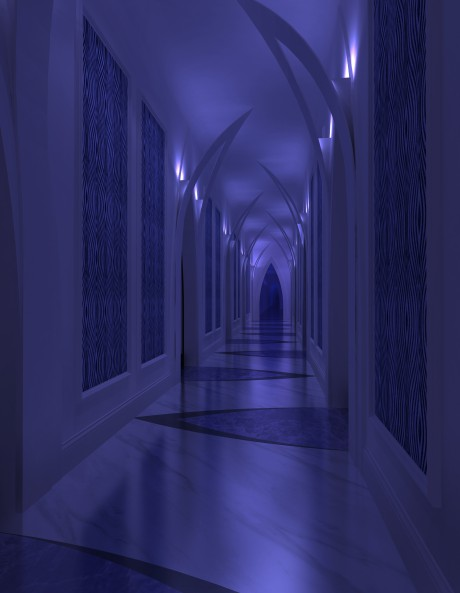 水色盛开走廊2